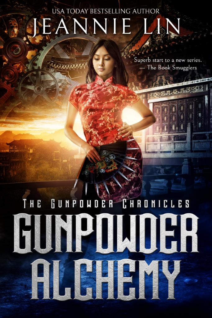 Book cover: Gunpowder Alchemy by Jeannie Lin
